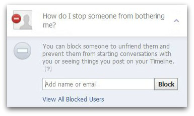 Block someone