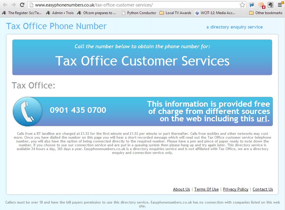 Entirely legitimate service example