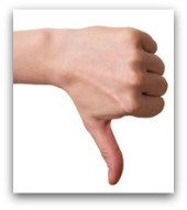 Thumbs down. Image courtesy of Shutterstock.