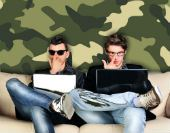 Programmers and camouflage. Images courtesy of Shutterstock