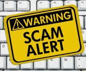 Scam alert. Image courtesy of Shutterstock.
