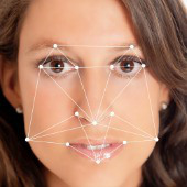 Facial recognition. Image courtesy of Shutterstock.