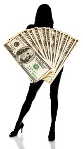 Woman and cash. Images courtesy of Shutterstock
