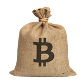 Image of Bitcoin sack from Shutterstock, 165294086