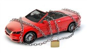 Padlocked car. Image courtesy of Shutterstock.