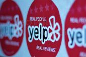 Yelp stickers, from Yelp on Flickr
