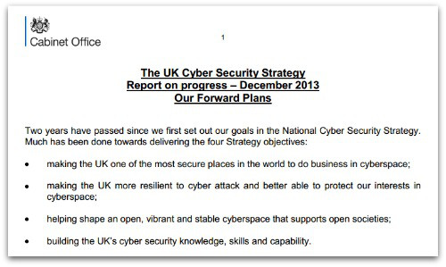 UK Cyber Seecurity Strategy - Report on progress