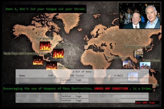 Hackers deface the Las Vegas Sands website
