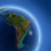 Brazil on the globe, image courtesy of Shutterstock
