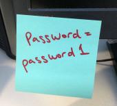 Password on post it