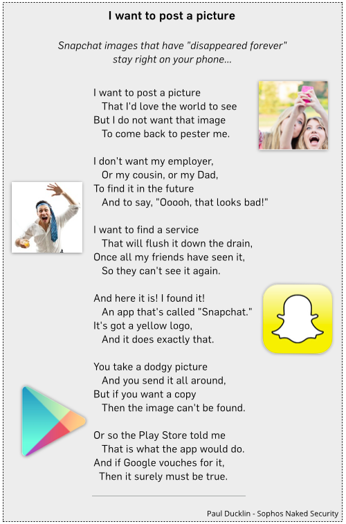 Click to read: Snapchat images that have disappeared forever stay right on your phone...