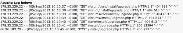 The vBulletin attack logs