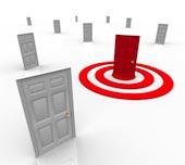 Door and target image courtesy of Shutterstock