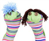 Sock puppet. Image courtesy of Shutterstock.