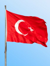 Turkey flag. Image courtesy of Shutterstock.