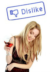 Drunk woman. Image courtesy of Shutterstock
