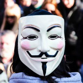 Anonymous mask. Image courtesy of Bad Man Production/Shutterstock.