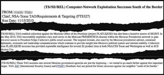 NSA report on hacking Mexican president's email