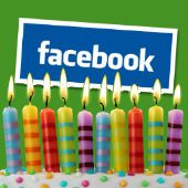 Candles, courtesy of Shutterstock. Facebook logo creative commons