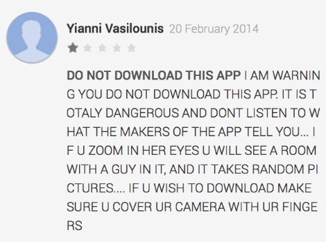 Talking Angela review from the Google Play Store